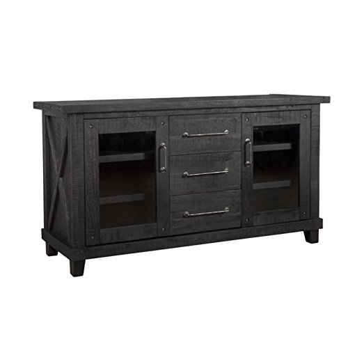 Modus Furniture 7YC973 Yosemite Solid Wood Sideboard, Black Pine