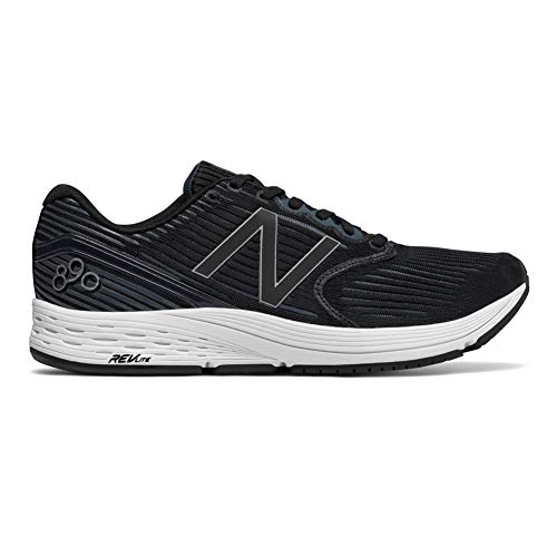 New Balance Men's 890v6 Running Shoe, Black/Grey, 10 D US
