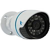 LineMak IR Bullet camera, 1/2.8 HDIS CMOS Sensor, 1200TVL, 3.6mm lens, 24 LEDs, 65ft IR night vision for DVR or surveillance systems.