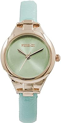 Ferenzi Women's | Small Face Slender Baby Blue Smooth leather Pattern Watch | FZ14104