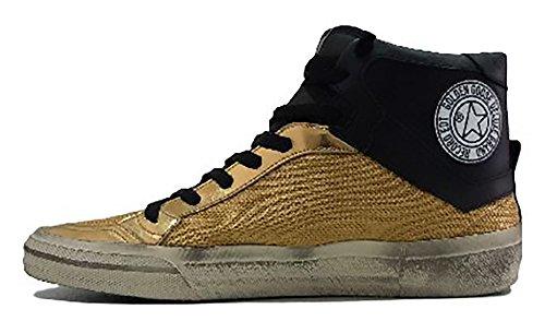 GOLDEN GOOSE Zapatillas de Piel Para Hombre Oro e Nero
