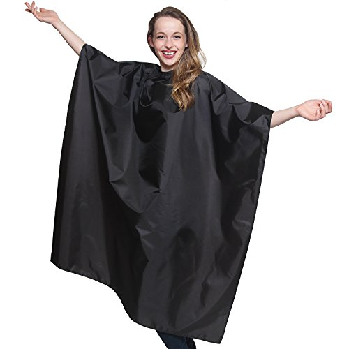 Waterproof Professional Salon Quality Cape 45 inch X 60 inch Ripstop Material Light Weight Extra Long Durability Protection. Perfect for Barbershop and Beauty Shop, Long Lasting and Specialized