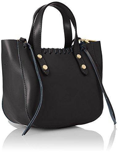 CTM Bolso de mano para mujer, pequeno bolso con cinturon de hombro en el interior - 22x25x10 Cm Negro (Nero)