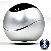 Vibe-Tribe Orbit Silver: 15 Watt Bluetooth Vibration Speaker with Hands Free