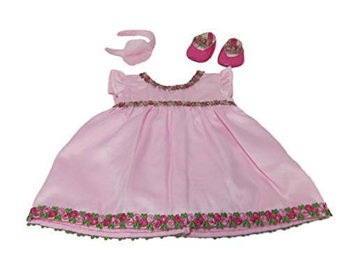 "American Girl Bitty Baby Pink Rose Dress for 15"" Dolls (Doll Not Included)"