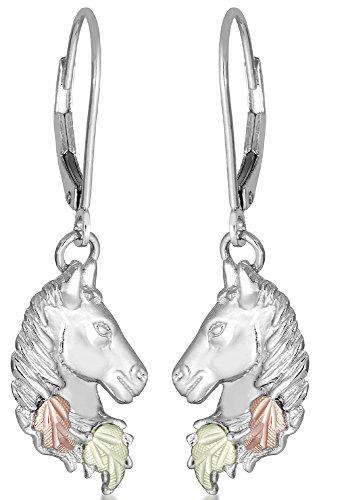 Horse Head Earrings (Pretty! High Polish! Black Hills Sterling Silver Horse Head Leverback Earrings)