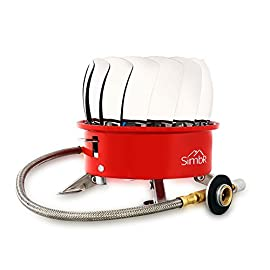 SIMBR Windproof Camping Stove with Electronic Ignition and Portable Bag