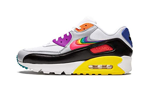 Nike Air Max 90 Betrue (White/Multi-Color-Black 10) (Nike Air Max 90 Ultra Moire Blackout)