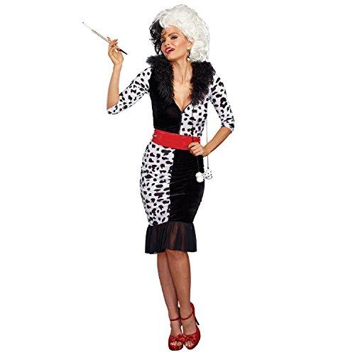 Dreamgirl Women's Dalmatian Diva, Black/White, L]()