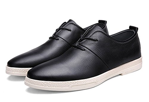 New Mocccasin Driving Lace TDA Loafers Boat Dress Simple Shoes Non Leather Black Up Mens Business slip R7xFwqx5A