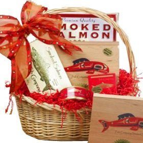 Smoked Salmon Seafood Assortment Red Gourmet Food Gift Basket (Scheduled Delivery)
