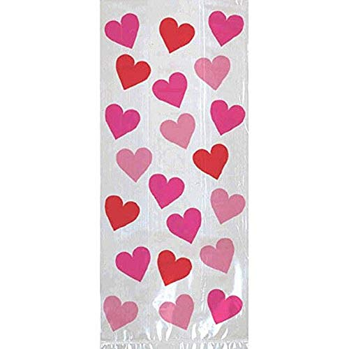 Valentine Key To Your Heart Large Plastic Party Bags, 20 Ct.   Party Accessory