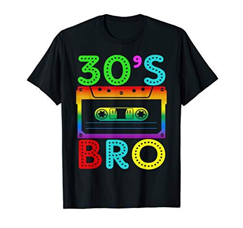 30's Bro T-Shirt Gift For Halloween Family Matching Costume T-Shirt -