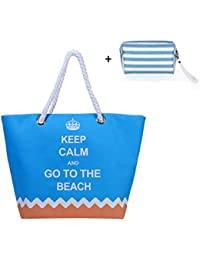 Oversized Waterproof Beach Tote Bag With Cotton Rope Handle