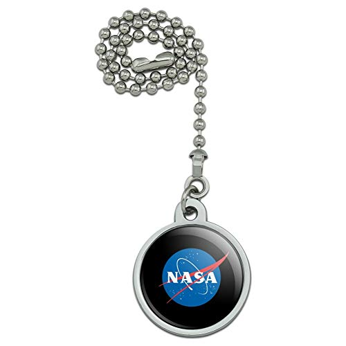 GRAPHICS & MORE NASA Official Meatball Logo Ceiling Fan and Light Pull Chain ()