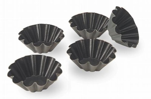 Matfer 10-Fluted Exal Brioche Mold, 3-1/8-by-1-1/4-Inch, 6-Pack