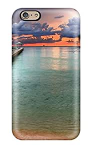 Fashion Tpu Case For Iphone 6- The Pier And Green Water Artistic Earth Nature Other Defender Case Cover