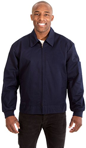 Men's Mechanics Style Work Jacket (Large, Navy)