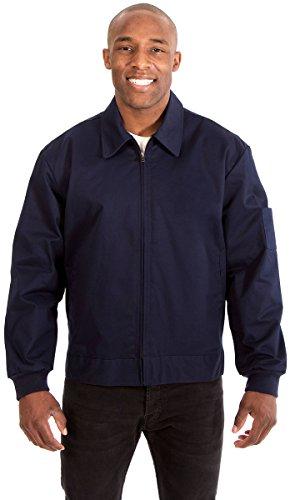 Style Ike Jacket - Men's Mechanics Style Work Jacket (Large, Navy)
