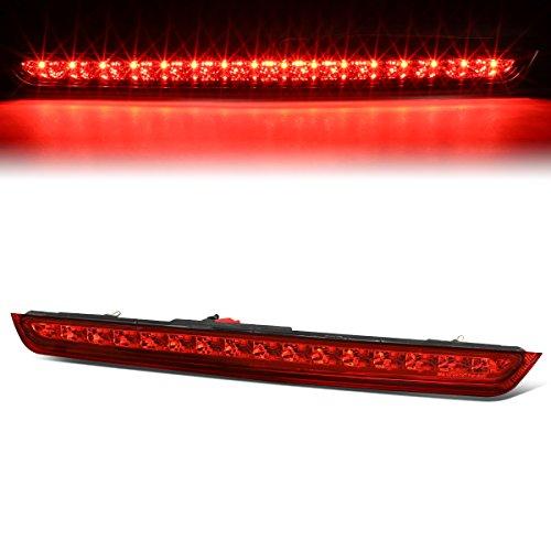 (For Chevy Suburban Tahoe/GMC Yukon Chrome Housing Red Lens High Mount LED 3rd Brake Light Lamp)