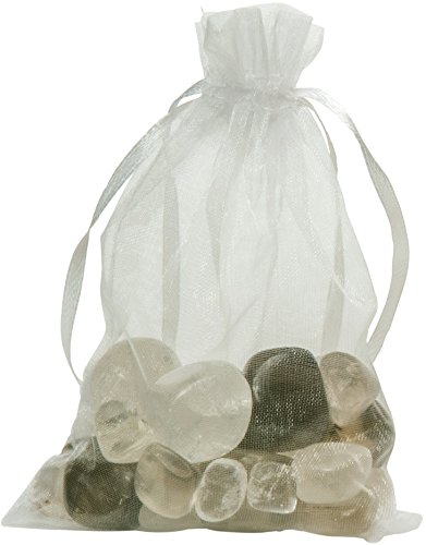 Gemstone Well Additional Gemstone Set for Elixir2Go Gemstone Water Bottle | Loose Tumbled Gemstones for Making Gemwater | Crystal Set for Crystal Elixir Water Bottle (Smoky Quartz & Clear Quartz)