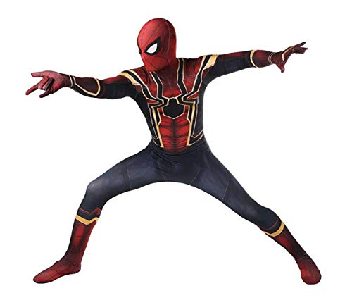 Spider Man Costume,Spider Man Far from Home Suit Cosplay for Men Boys Kid Size 7
