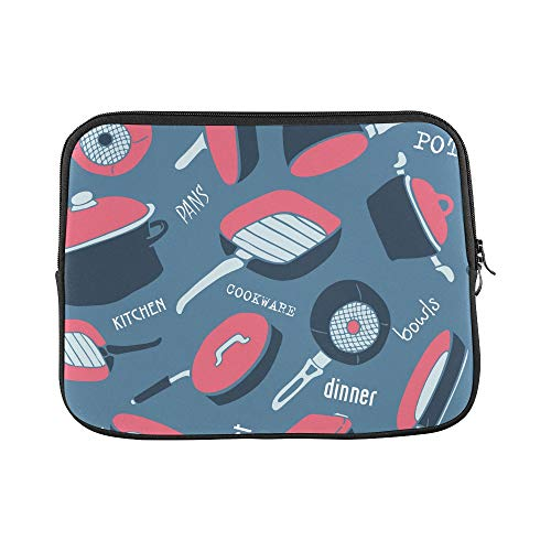 "Design Custom Wok Kitchen Creative Hand-Painted Sleeve Soft Laptop Case Bag Pouch Skin for MacBook Air 11""(2 Sides)"