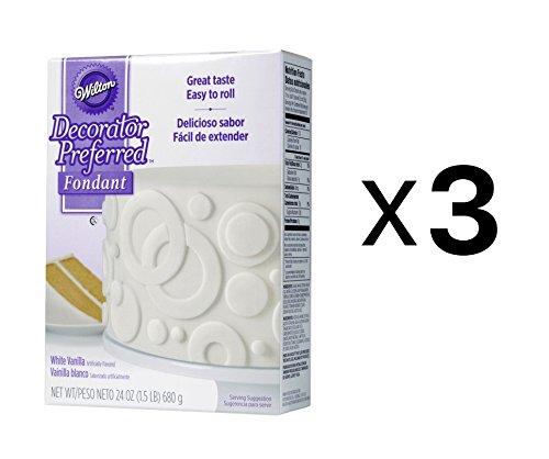 Bulk Buy: Wilton (3-Pack) Decorator Preferred Fondant 24oz White W2301