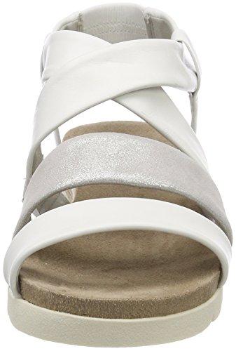 Sandali Multi Caviglia 28612 Bianco Donna Cinturino 103 alla con White Caprice zq5fwAA