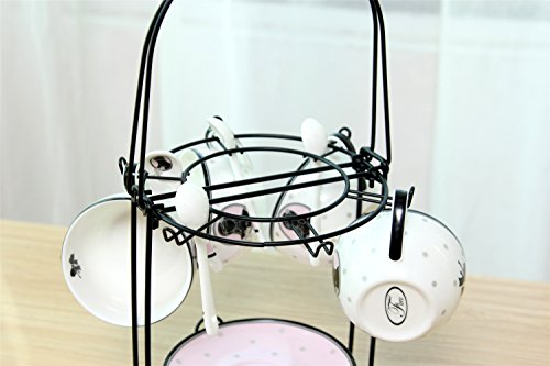 Wire Rack For Organizing 6 Saucers Amp 6 Cups Amp 6 Spoons Amp 1