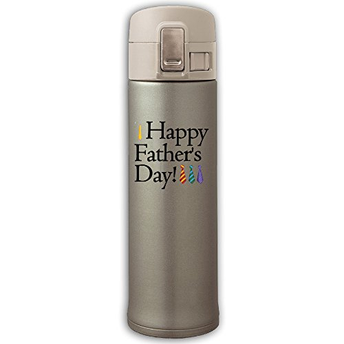 304 Stainless Steel Vacuum Insulated Leak Proof Sports Water Bottle Camping Travel Thin Thermoses 500ML Keeps Cold And Hot - Happy Father