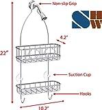 Simple Houseware Bathroom Hanging Shower Head Caddy Organizer, Chrome