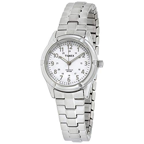Timex Women's TW2P88900 Easton Avenue Silver-Tone Stainless Steel Expansion Band Watch from Timex