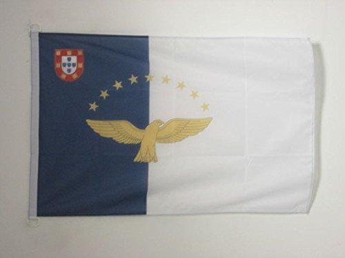 AZ FLAG Azores Flag 2' x 3' for Outdoor - Portugal - Azorean Flags 90 x 60 cm - Banner 2x3 ft Knitted Polyester with Rings ()