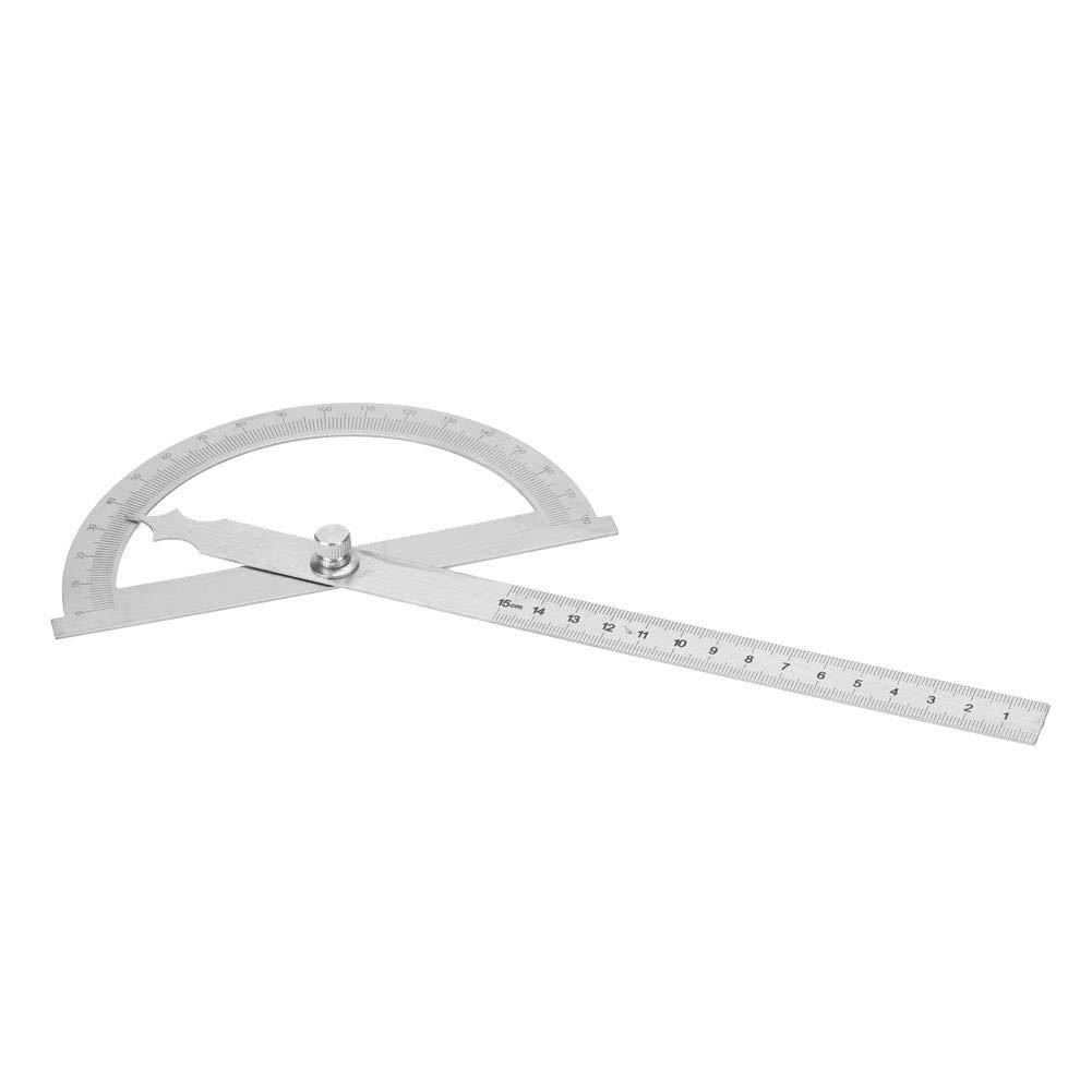 0-180 Grad 15cm Edelstahl Winkelmesser Goniometer Winkelsucher Messlineal Winkelmesser Lineal 150 * 200 mm