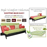 THE FUTON SHOP DILLON BLACK QUEEN WINE WALL HUGGER SOFA BED / LOVE SEAT SETS