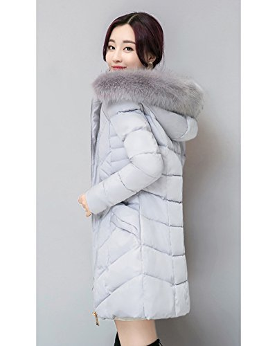 Light Puffer Grey Quilted Coat Women's Cihui Jacket Ultra Parka Winter Down Packable Weight FpwB8