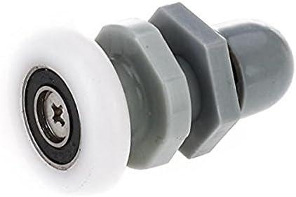 ACAMPTAR - Juego de 8 Ruedas de Repuesto para mampara de Ducha (ABS, 25 mm de diámetro): Amazon.es: Hogar