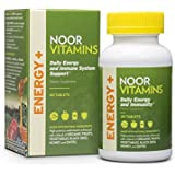 NoorVitamins ENERGY+ Multivitamin with Organic Fruits, Vegetables, Black Seed, Honey and Dates - 60 Count - Halal Vitamins