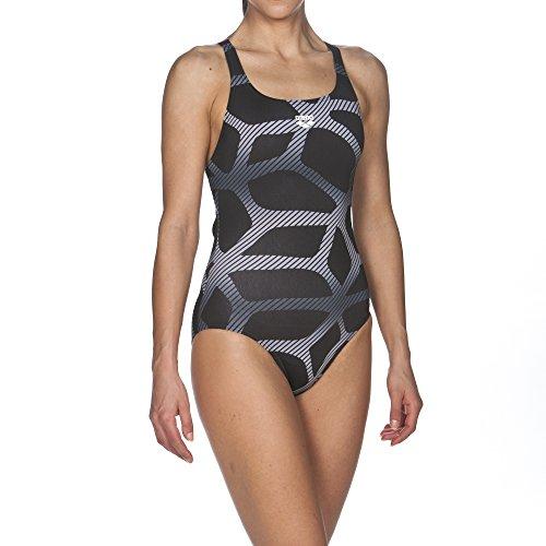 ares5Mujer Arena Sport Spider Swim PRO–Bañador black-fresia rose