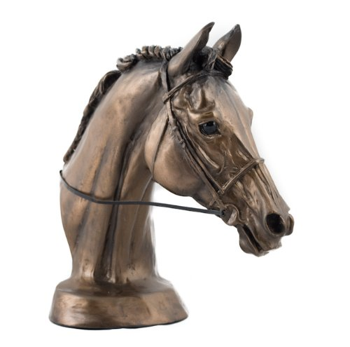 William-Hunter-Equestrian-Harriet-Glen-Cold-Cast-Bronze-Resin-Horse-EVENTERS-HEAD-SculptureStatueOrnament-Beautiful-Gift