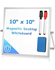ARCOBIS Small Desktop Dry Erase Board Portable Small Magnetic Double Sided Whiteboard Easel for Kids to Do List White Board for Office, Home, School