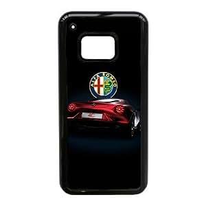 JiHuaiGu (TM) HTC uno M9 funda Negro ALFA ROMEO LOGO tema personalizado HTC uno M9 funda AJ5294