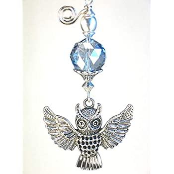 Harry Potter Large Open Wing Owl Amp Faceted Twilight Blue