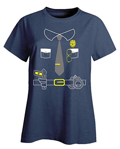 Cute Police Officer Halloween Costume for Kids That Love Law Enforcement - Ladies T-Shirt ()