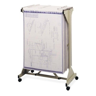 Safco Products 5060 Mobile Plan Center, Tropic (Safco Mobile Blueprint Stand)