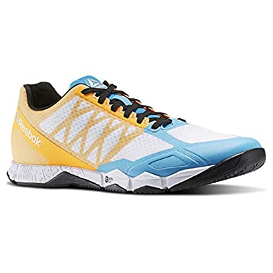 Reebok Men s Crossfit Speed TR Fitness Shoes White Blue Orange bd5494 ... 1b9afa436