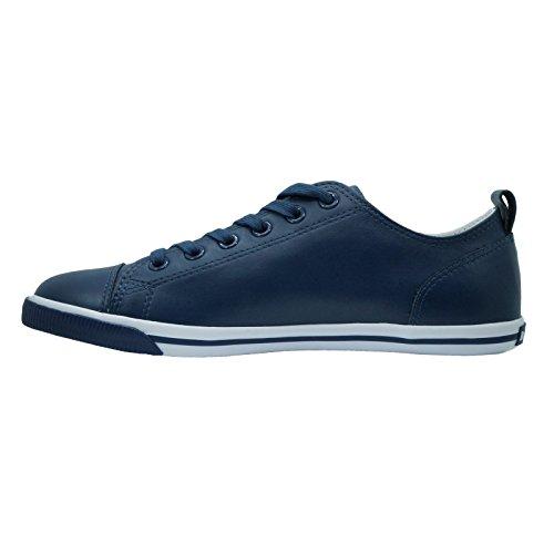 Sneaker Vintage In Pelle Di Bue Marrone Scuro Da Uomo