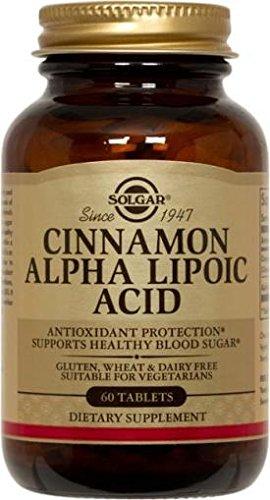 Solgar Cinnamon Alpha Lipoic Acid 150 MG -60 Tablets