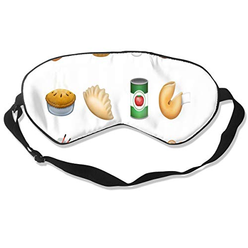 Eye Mask New Food Emojis Pie Dumpling Sandwich Chinese Takeout Unique Eyeshade Sleep Mask Soft for Sleeping Travel for Men ()